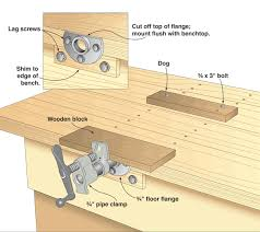 Cool Homemade Wood Vise Woodworking Bench Plans Plan