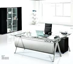 desk black metal glass corner computer desk black metal sepia