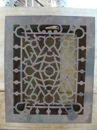 Floor Heater Grate Cover by Antique Cast Iron Metal Floor Wall Heat Heating Register Grate