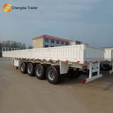 40ton 3 Axle Automatic Transmission Semi Trucks Flat Bed Semi ...