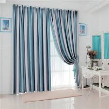 Blue Vertical Striped Curtains by Curtain Inspiring Decoration With Blue Striped Curtains Picture