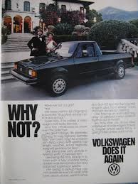 Vintage Volkswagen Rabbit Pickup Truck Ad | VW Flyers | Pinterest ...