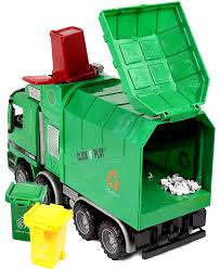 98 Garbage Truck Party Supplies Click N Play Friction Powered Toy With Cans
