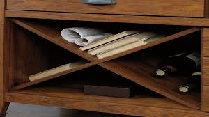 Sauder Graham Hill Desk by Sauder Carson Forge Sideboard Washington Cherry Finish Youtube