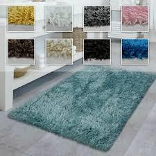 badezimmer teppich hochflor badematte modern weich in versch farben u größen ebay