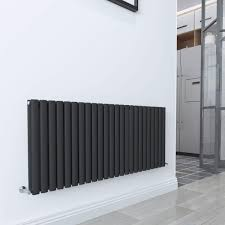 WarmeHaus Horizontal Column Designer Radiator Oval Flat