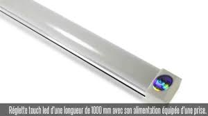 reglette cuisine avec prise réglette touch led 1000 mm 15w blanc froid alimentation 2