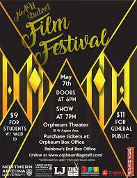 NAU Student Film Festival Poster