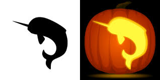 Minecraft Pumpkin Stencils Free Printable by Narwhal Pumpkin Carving Stencil Free Pdf Pattern To Download And