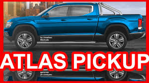 PHOTOSHOP 2018 Volkswagen Atlas Tanoak Pickup Truck #VW - YouTube
