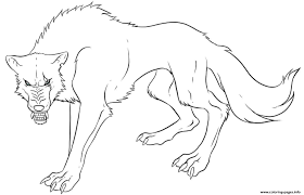 Download Coloring Pages Wolf Page Anime S Print Free Printable Images