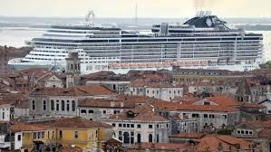 nograndinavi venice protestors seeking a ban on cruise ships are