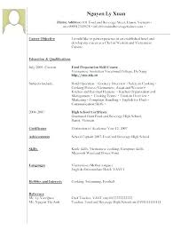 Resume Work Experience Examples For Cashier Waitress Example No Restaurant Waiter R