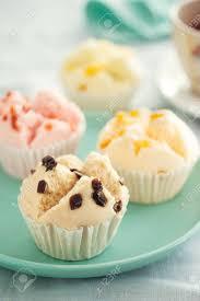 Thai Fruity Fluffy Cupcake For Tea Break Snack Stock Photo Picture