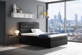 boxspringbett schlafzimmerbett luca 180x200cm schwarz