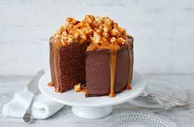 Chocolate Popcorn And Salted Caramel Cake Recipe