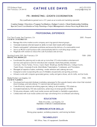 Resume Sample For Events Marketing Retail Customer Service Lead
