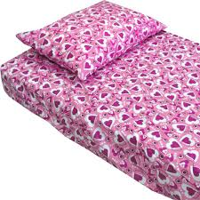 hearts pink purple bedding twin single bed sheet set traditional