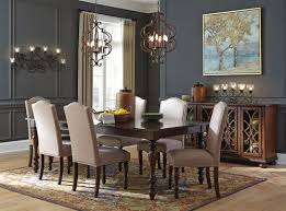 Baxenburg Brown 8 Pc Reclining Dining Room Extension Table 6