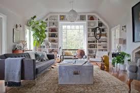 Living Room In Gray Owl Mid Century