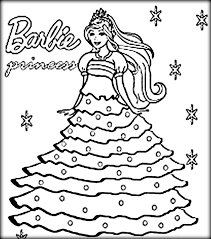 Barbie Princess Coloring Page Free Printable