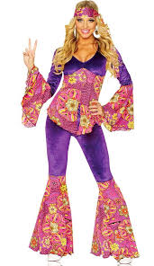 Womens Purple Hippie Costume
