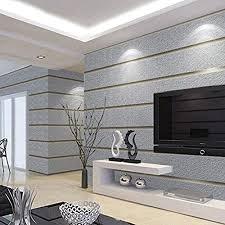 silber grau horizontal streifen tapete für wände 3d wildleder vliesstoff modernes wohnzimmer sofa tv hintergrund tapeten wohnkultur q