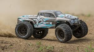 ECX 1/10 Ruckus 2WD Monster Truck Brushless With LiPo RTR, Silver ...