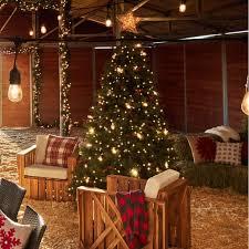 Downswept Douglas Fir Artificial Christmas Tree by National Tree Pre Lit 7 1 2 U0027 Dunhill Fir Hinged Artificial