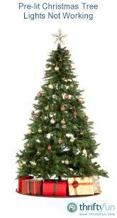 Pre Lit Christmas Tree Lights Not Working