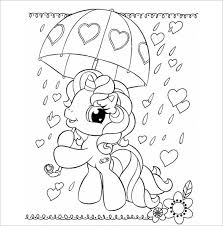 This Pony With Umbrella Coloring Page Is A Very Adorable Image That Ready To Be Filled In Colors The Kids Love Ponies And Added Cuteness It