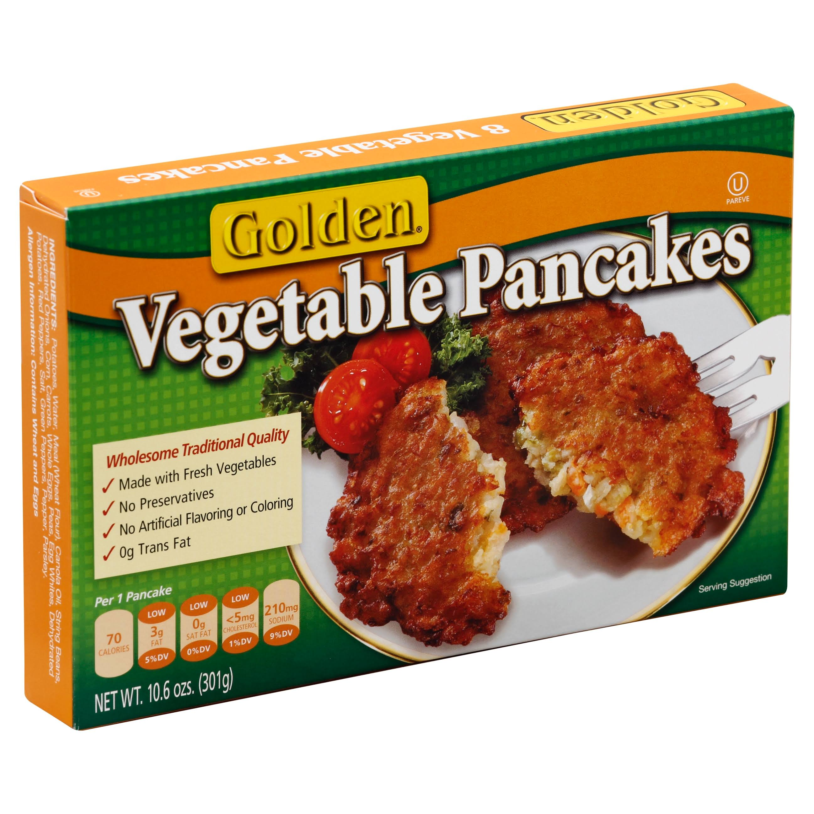 Golden Vegetable Pancakes - 8ct, 10.6oz