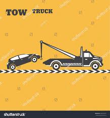 100 Used Tow Trucks Truck Emblem Wrecker Icon Round RoyaltyFree Stock Image
