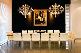 Black Accent Wall Dining Room Modern With Glass Table Gilt Frame Wallpaper