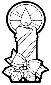 Candle Free Christmas Coloring Pages
