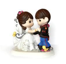 Precious Moments Cake Toppers Chocolate Party Favors Military Wedding Topper