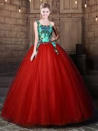 Custom Made One Shoulder Sleeveless Tulle Quinceanera Gown Pattern Lace Up