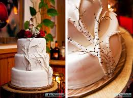 Lovely Birch Wedding Cake
