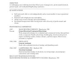 Resume Examples Electrician Electrical Sample Engineering