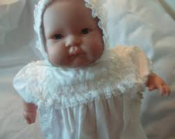Vintage Cotton Baptism Gown Girls 12 Months Christening Blessing Day Wear Bonnet Included