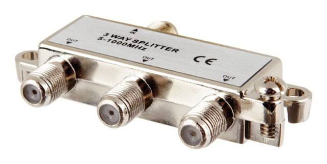 Monster Just Hook It Up Digital Coax Splitter - 1ghz, 5-1000mhz, 3 Way