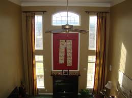 Living Room Curtains Ideas Pinterest by Two Story Family Room Curtains Window Treatments Pinterest