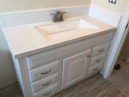 Dupont Corian Sink 810 by Custom Built White Concrete Countertop With Integrated Sink And