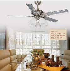 52inch Leaves Fan Light Chandelier Dining Room Ceiling Lights Big Wind Simple Living Lamp In Fans From