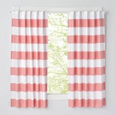 Light Pink Ruffle Blackout Curtains by 96 U0027 U0027 Pink And White Striped Curtain The Land Of Nod