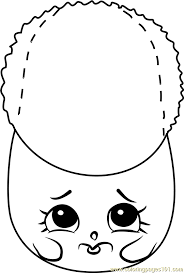 Cute Boot Shopkins Coloring Page