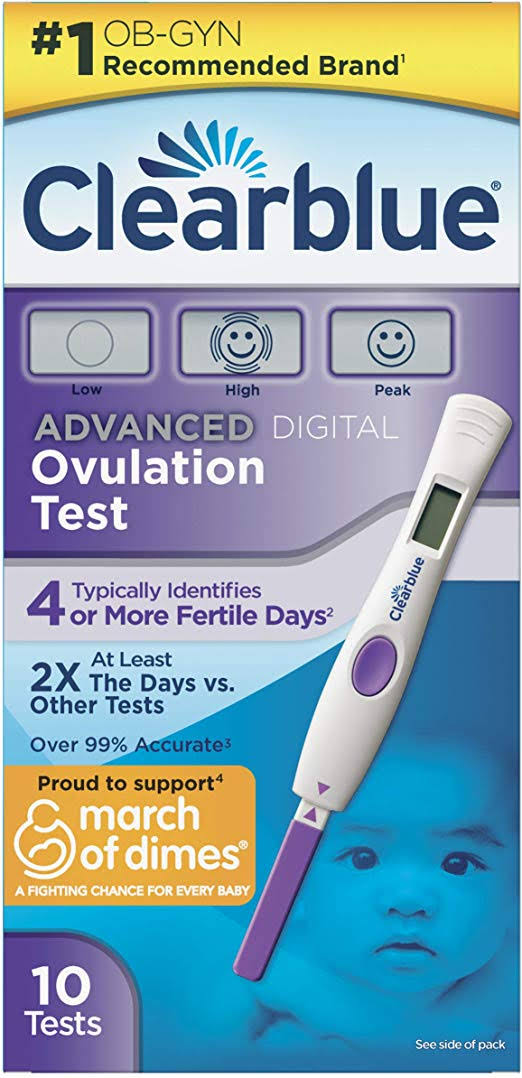 Clearblue Advanced Digital Ovulation Test - 10 Count