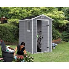 4x6 Plastic Storage Shed by Keter Manor Plastic Garden Shed 4x6 Grey Sheds From Garden Store