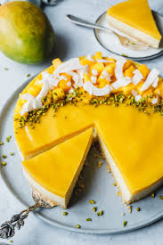 no bake mango cake eat this foodblog vegane rezepte