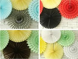 Pastel Hanging Tissue Paper Fans DIY Backdrop Baby Shower Party Ideas Birthday